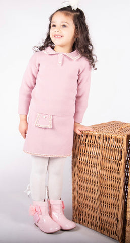 Beau Kid Hope Knitted Skirt Set Pink