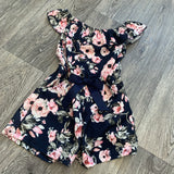 Floral Playsuit Navy