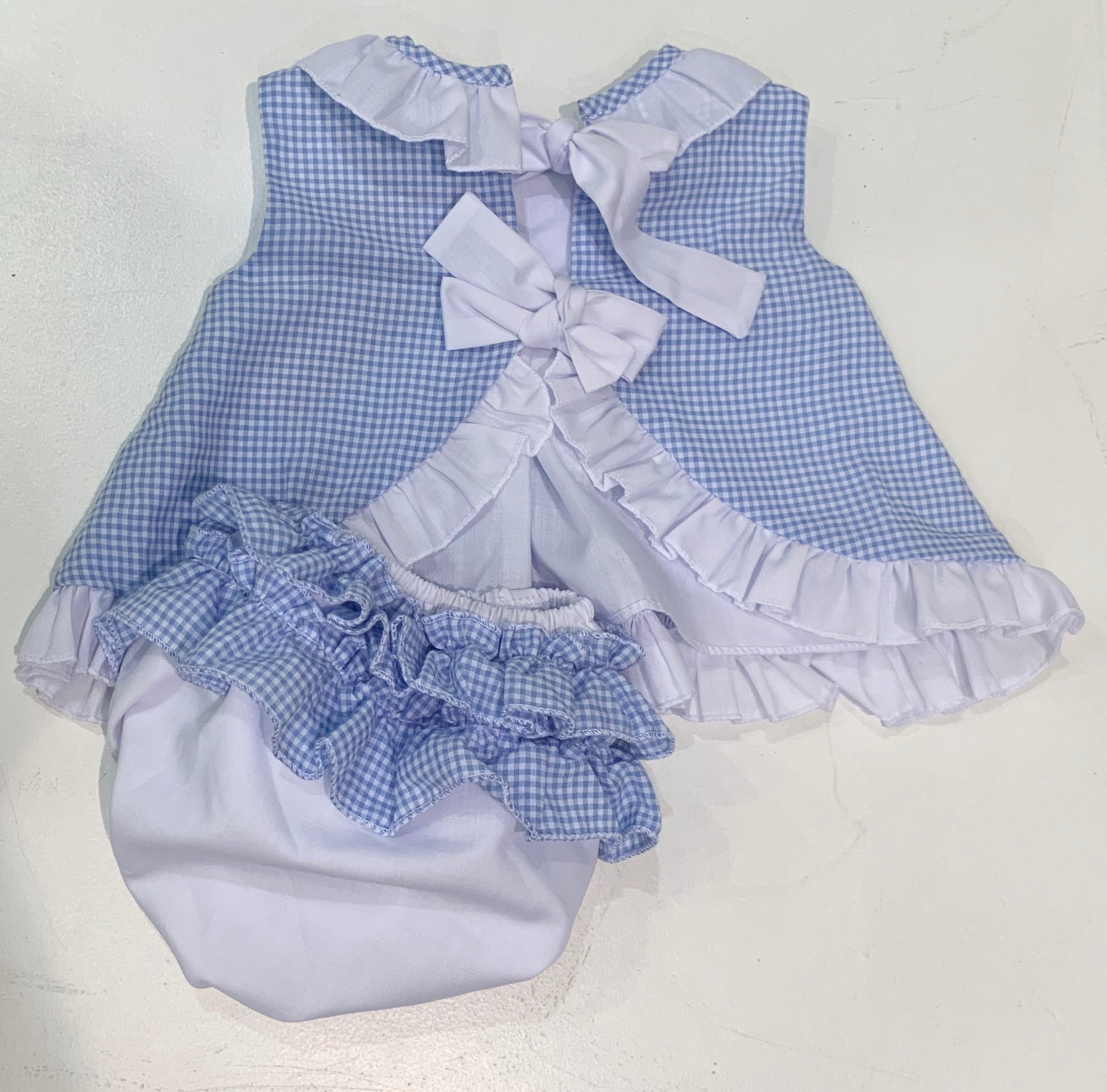 Spanish Bow and Knickers Set Sky Blue