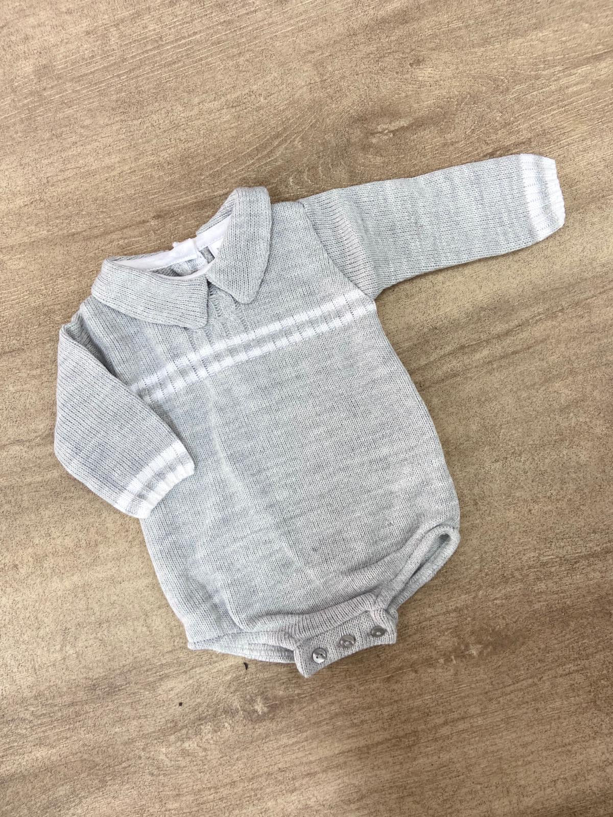 Harrison Knitted Grey Romper