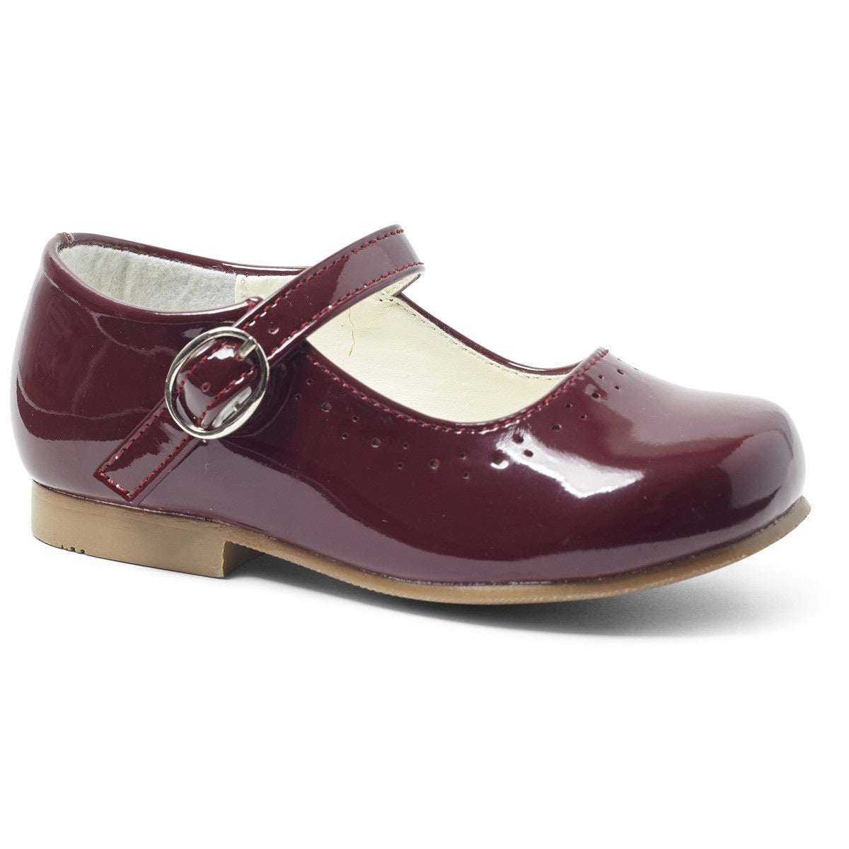 Abbey Burgundy Hard Sole Shoes