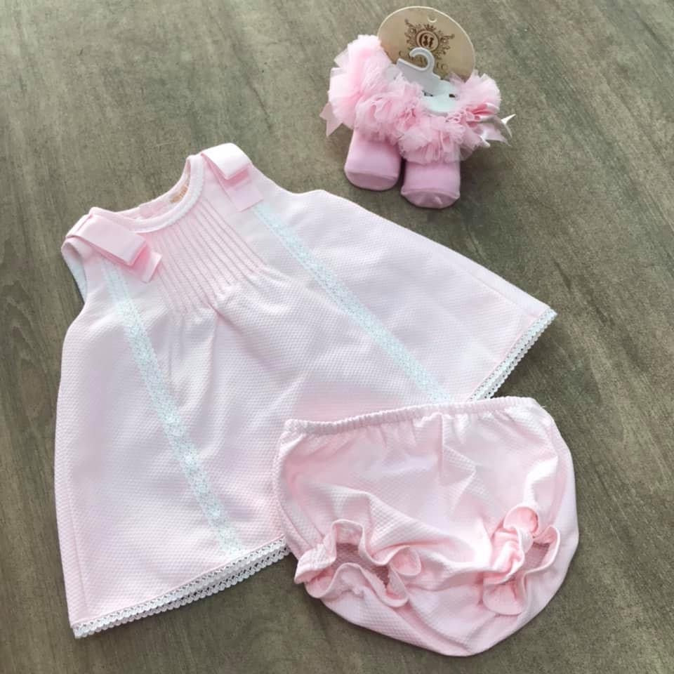 Mintini Pink Princess Ribbon Dress Set