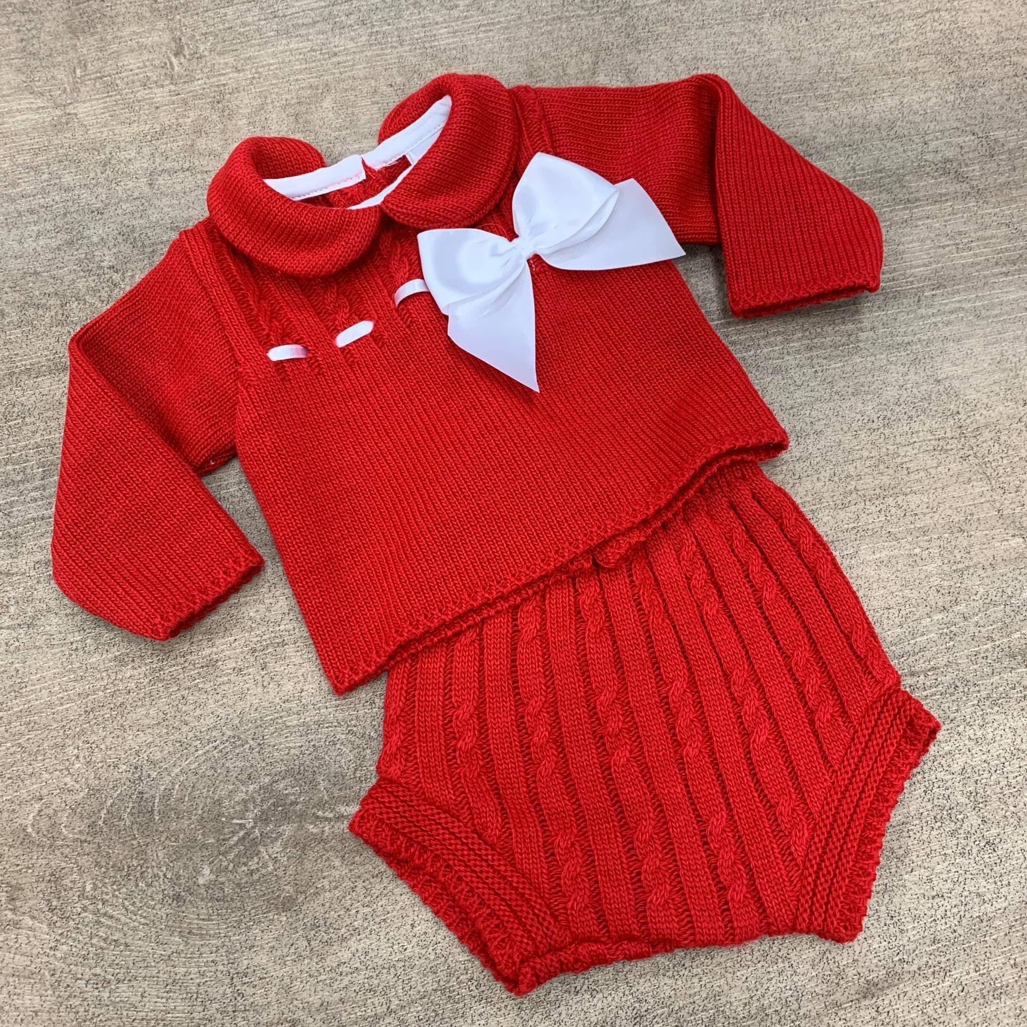 Amelia 2 Piece Knitted Set - Red