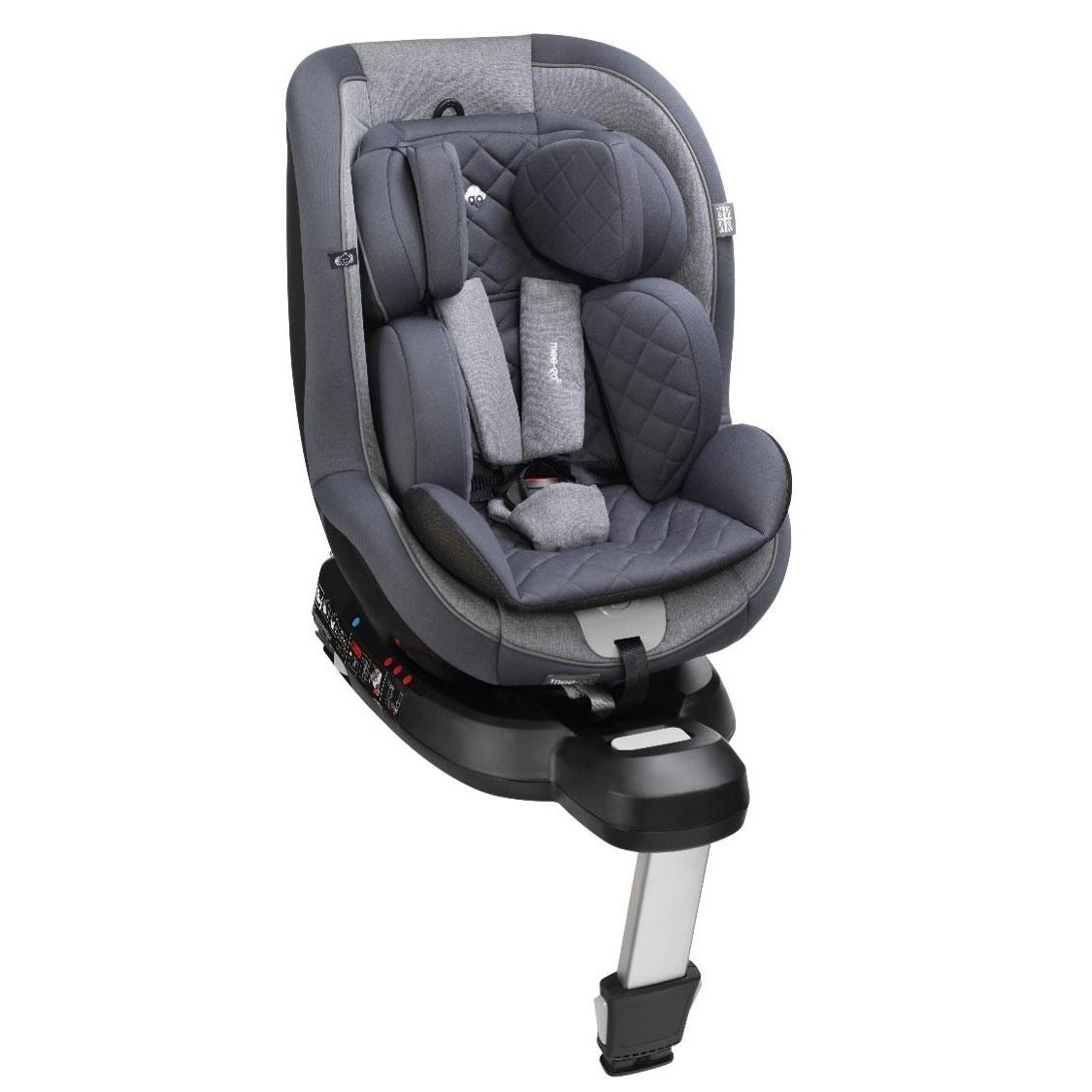 Mee-Go Swirl Pebble Grey I-Size Group 0+/1 360 Spin Car Seat