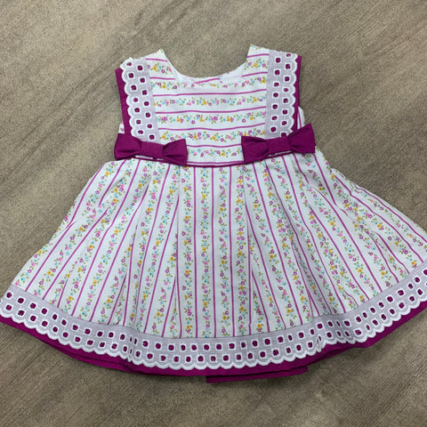 Spanish Bow Flower Dress Purple