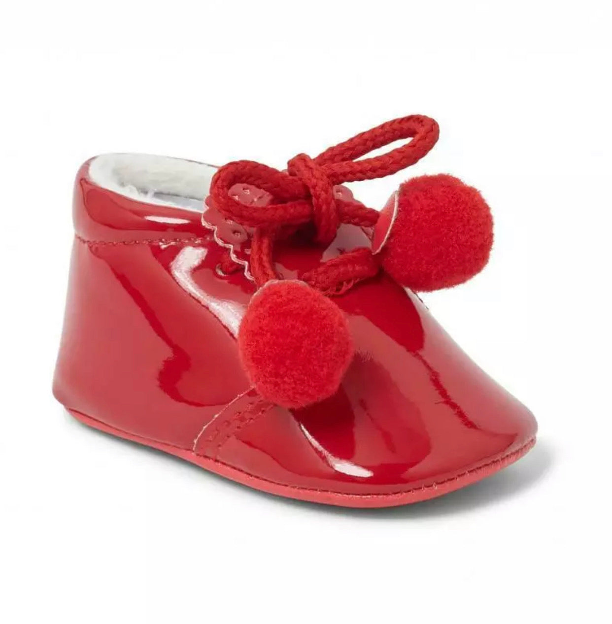 Joe Red Pom Pom Pram Shoe