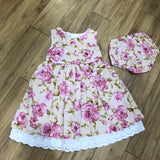 Special Offer Floral Cotton Dress Ivory