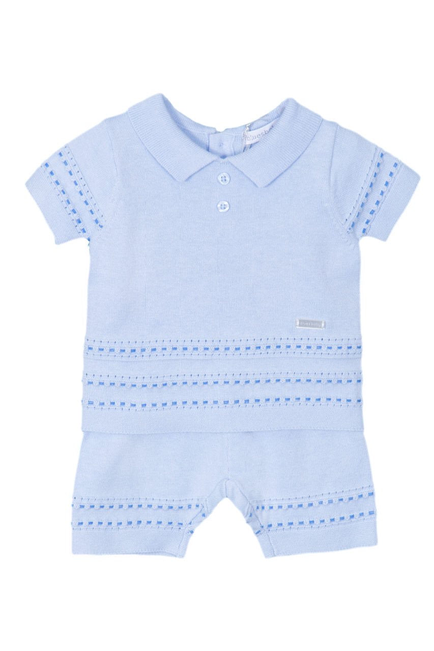 Blues Baby Classic Knitted Short Set