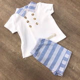 Mintini Boys Striped Short Set