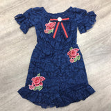 Inspired Lace Playsuit Navy