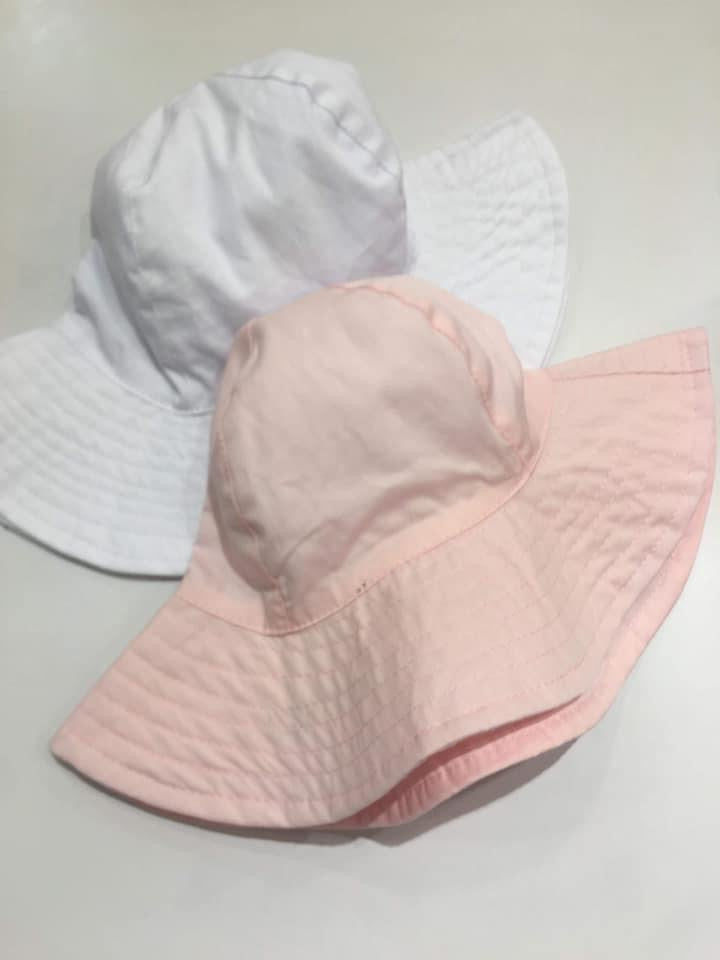 Elouise Wide Brim Sun Hat White