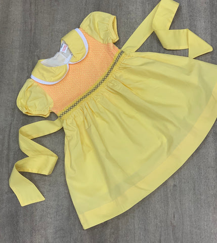 Lemon Classic Smock Dress