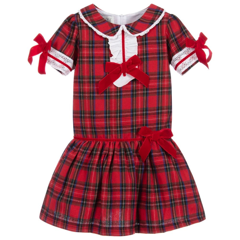 Beau Kid Red Tartan Dress