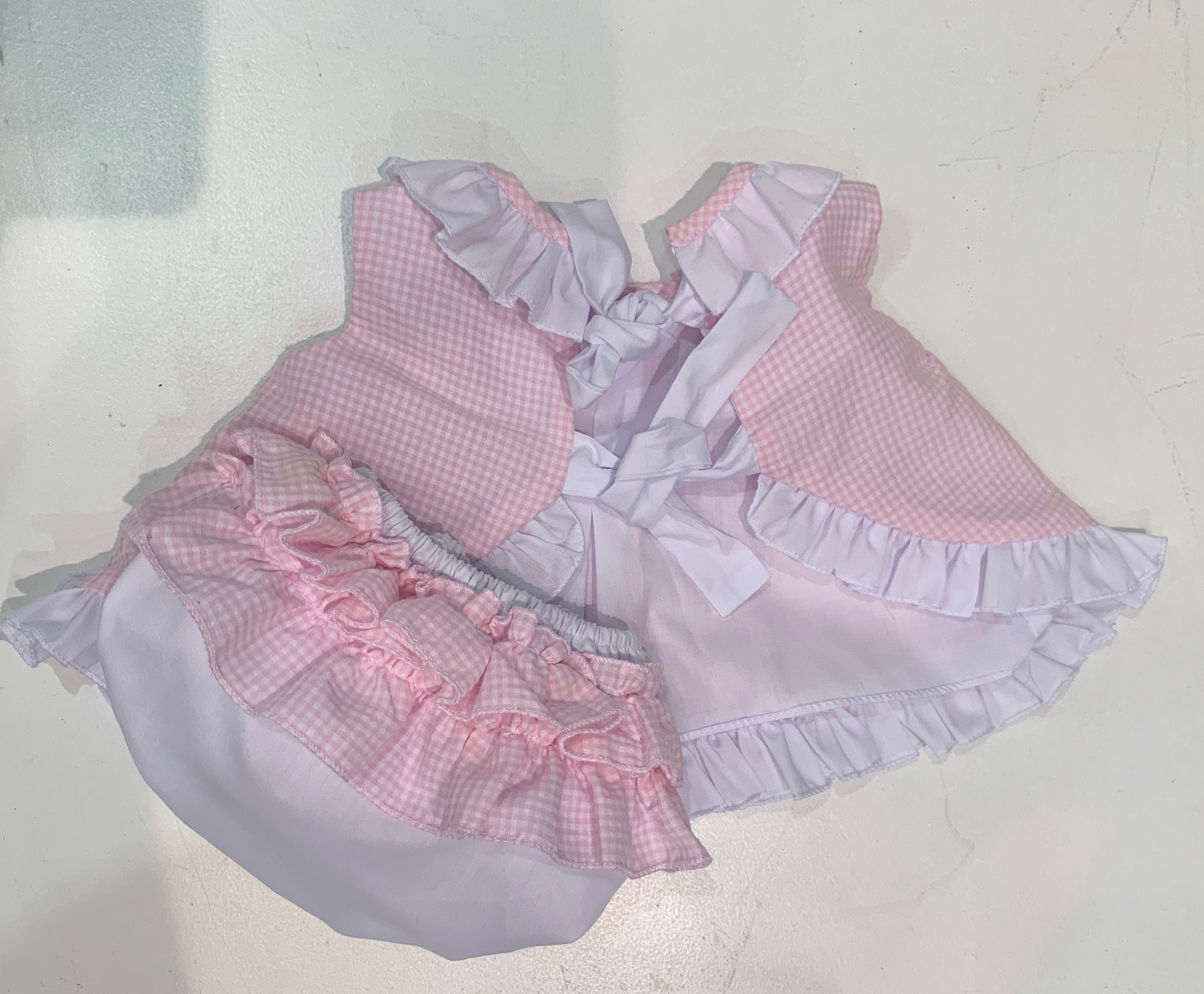 Sevva Spanish Bow and Knickers Set Pink