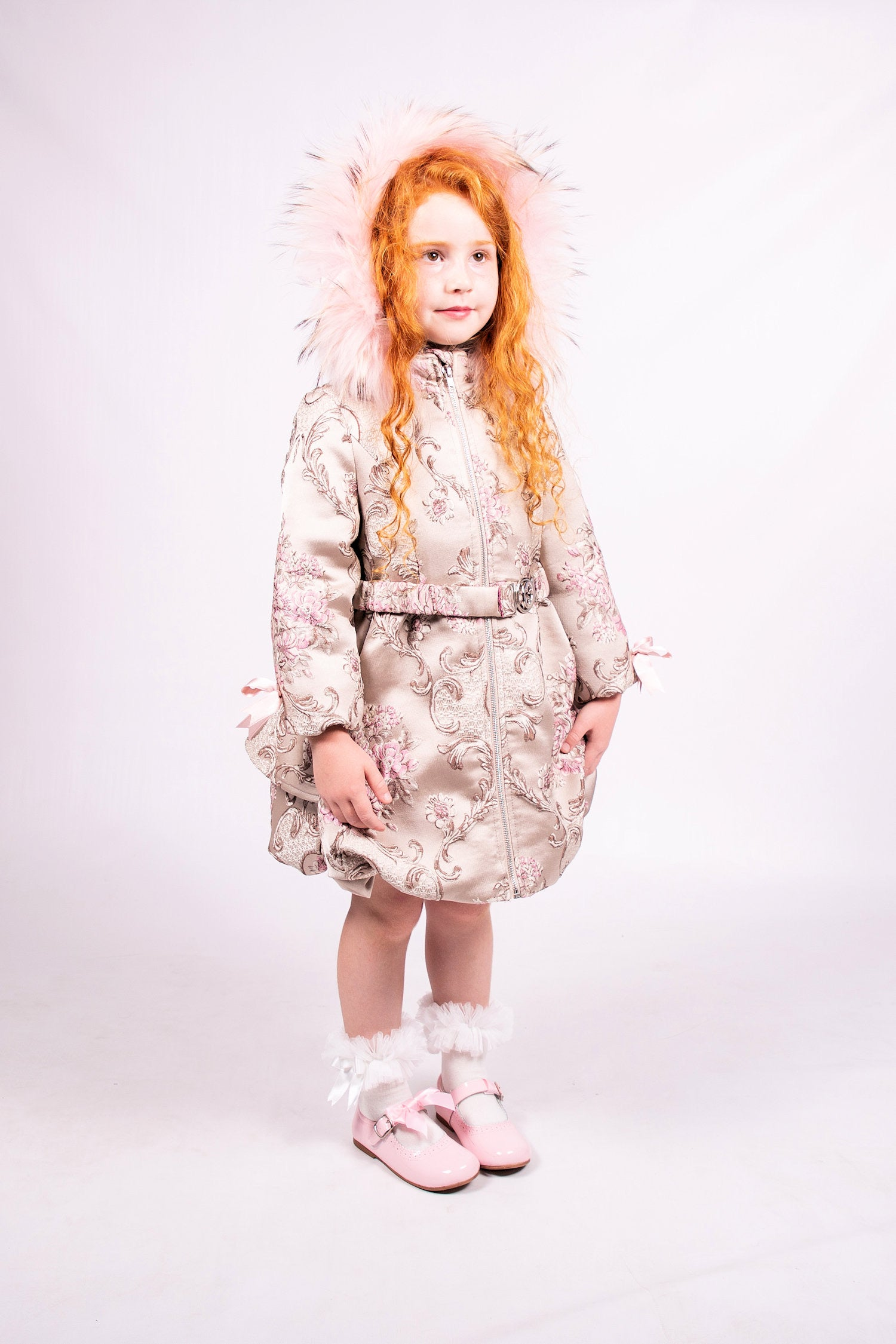 Beau Kid Floral Padded Belted Coat