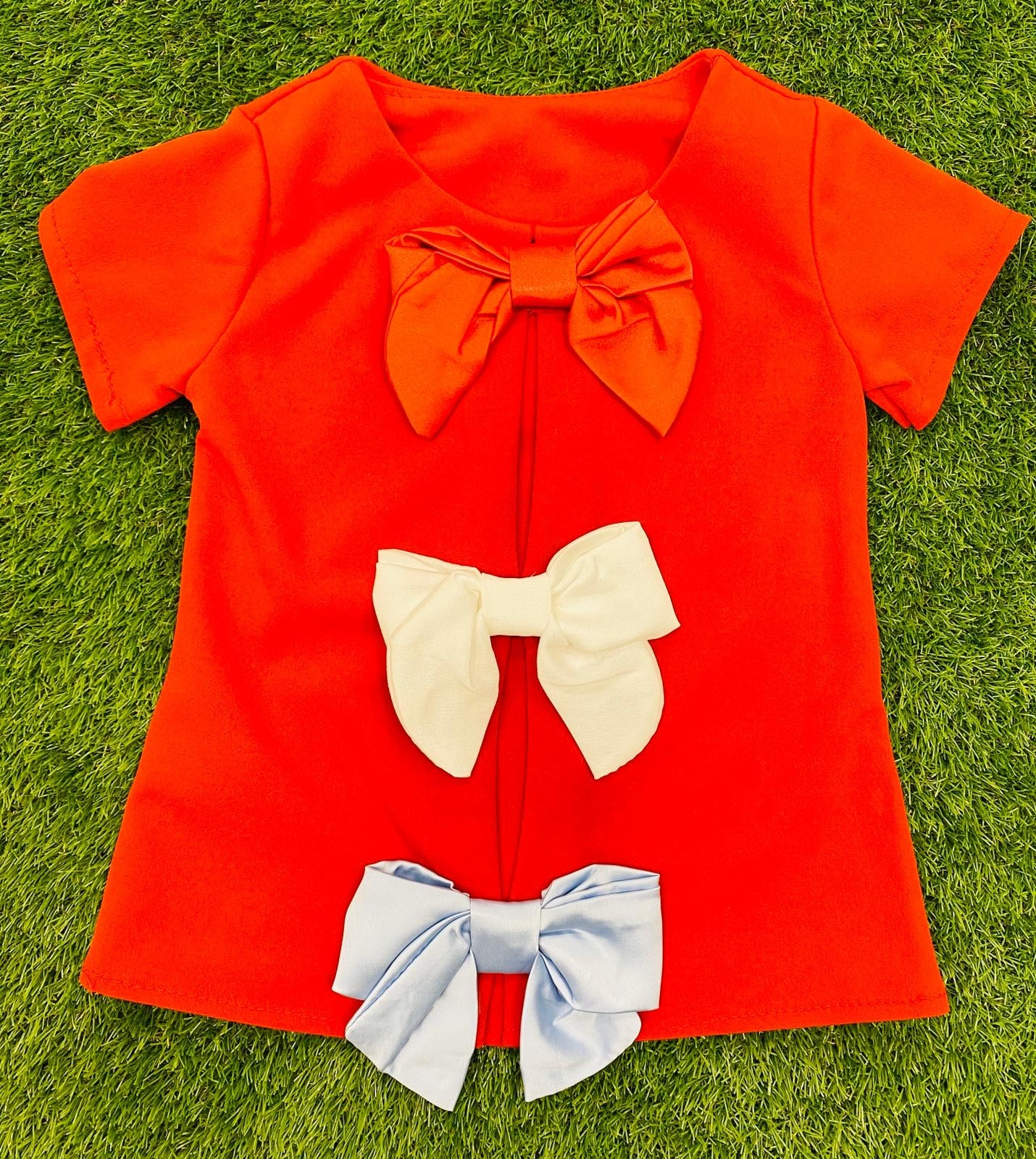 Triple Bow Tee Red