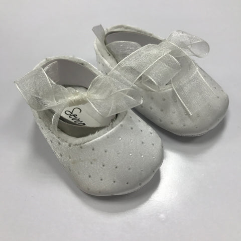Sharon White Pram Shoes