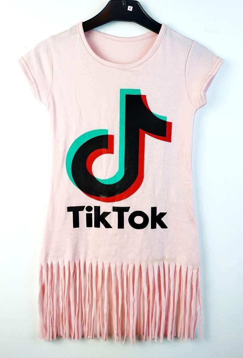 Tik Tok Fringed Dress Pink