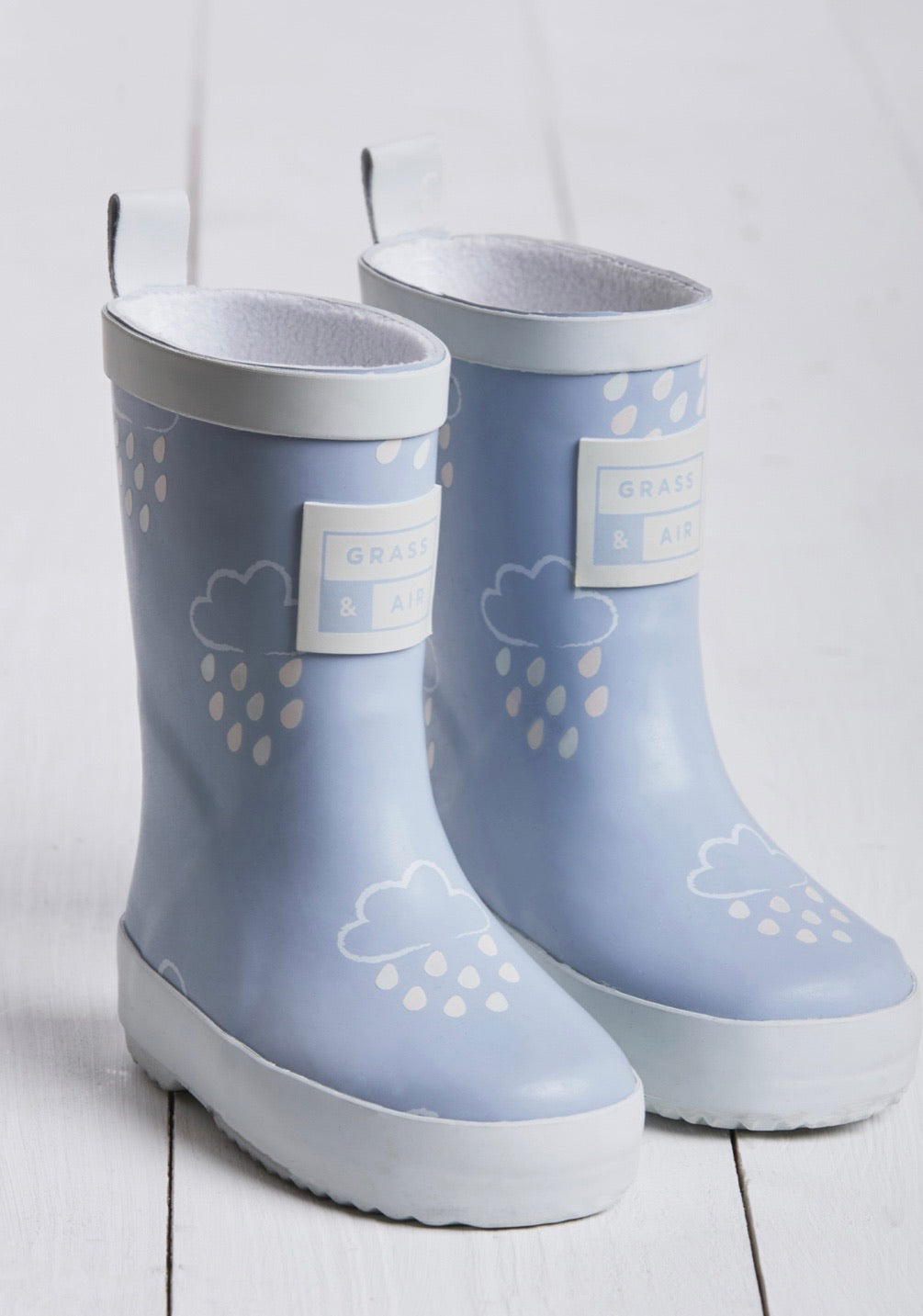 Grass and Air Colour Changing Wellies Sky Blue