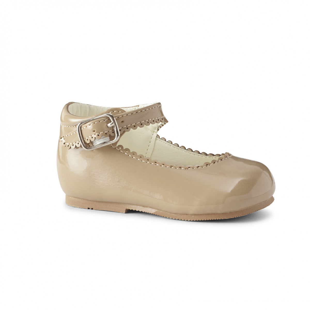 Camila Camel Hard Sole Shoe