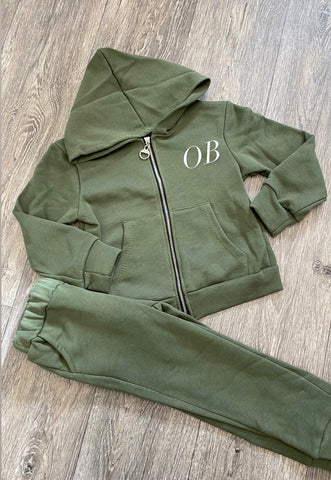 Boys Khaki Tracksuit - Option to personalise