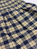 Navy Check Smock Dress