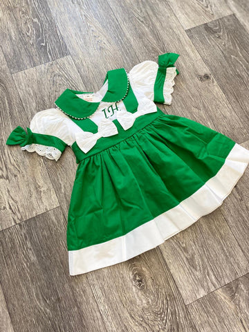 Personalised Patrica Emerald Puffball Dress