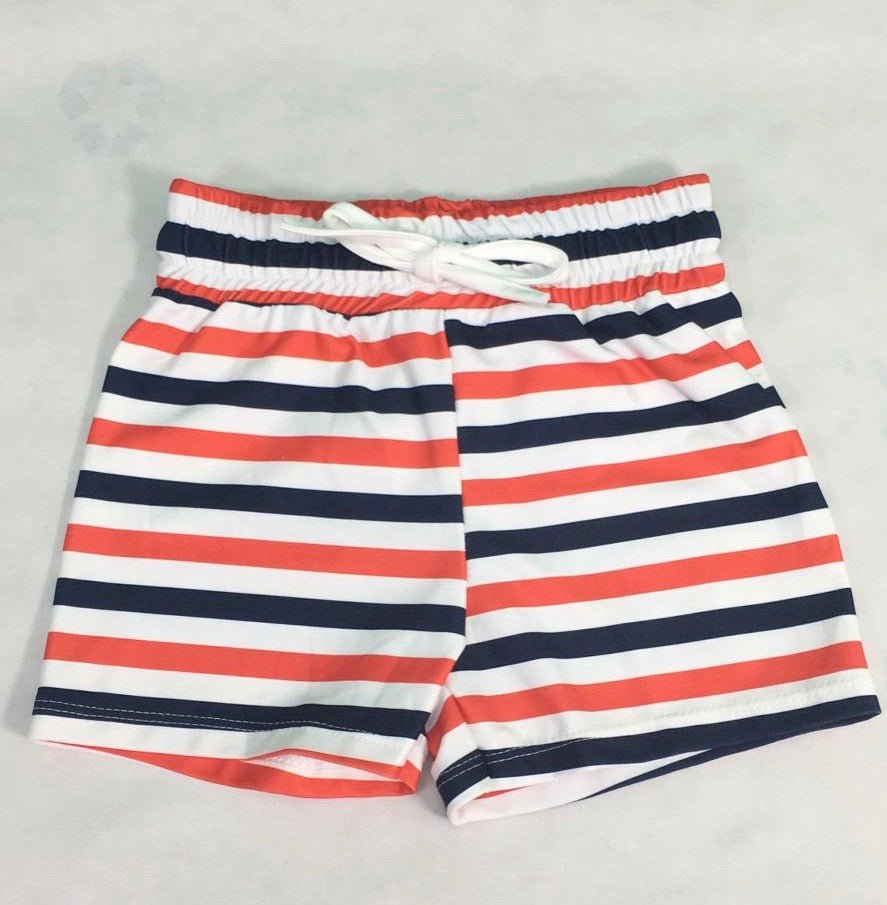 Nautical Swimming Trunks
