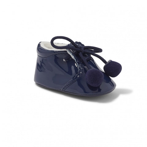 Joe Navy Pom Pom Pram Shoe