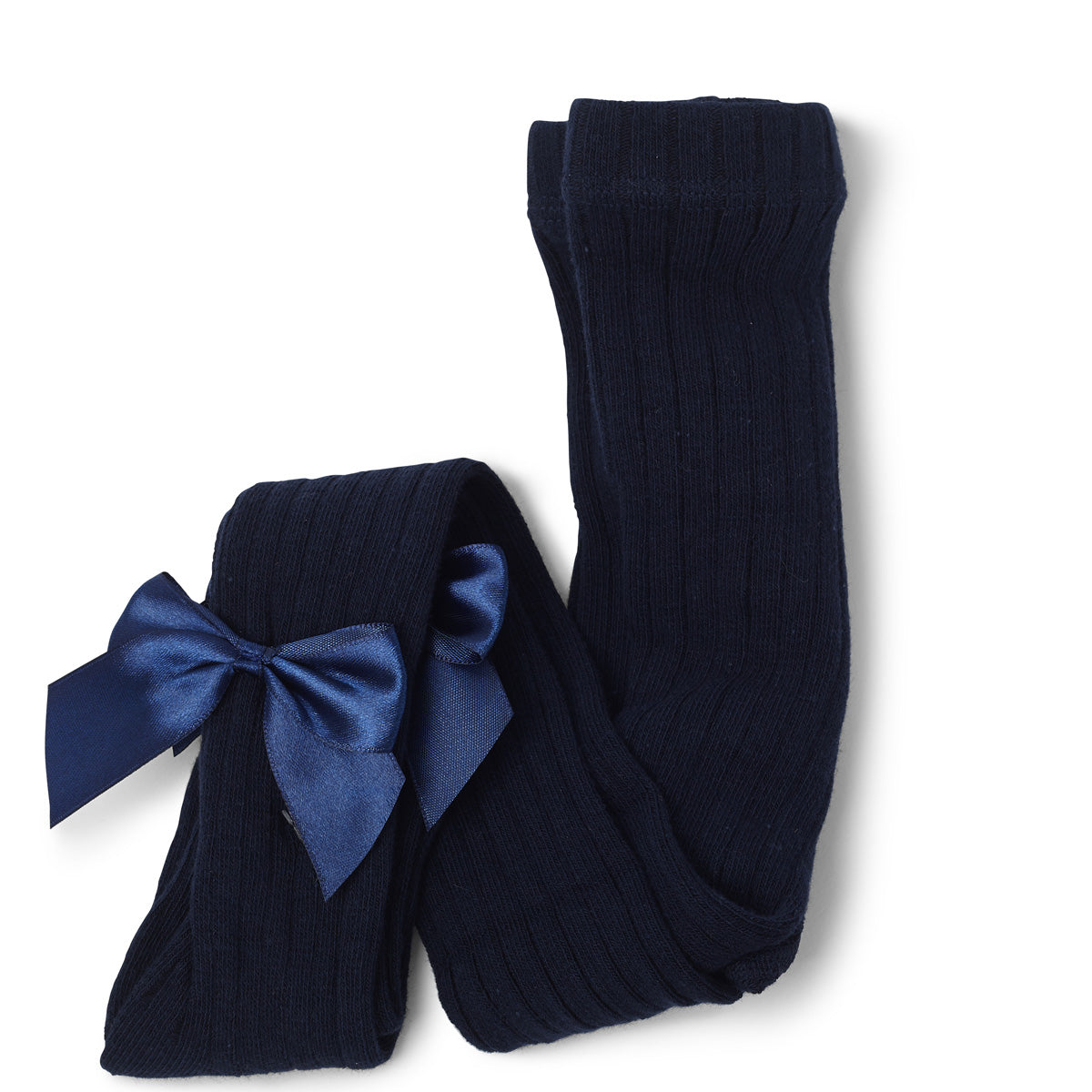 Kitty Bow Tights Navy