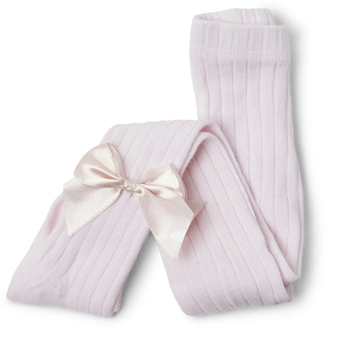 Kitty Bow Tights Pink