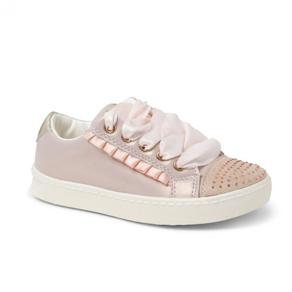 Princess Pink Diamonte Trainers