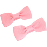 Mini Bow Clips - Pair of Pink