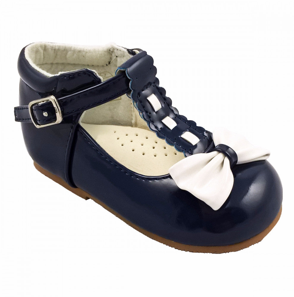 Special Offer Emily Navy/White Bow Shoe