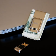 Techno Money Clip with USB Flash Drive | GroomStand