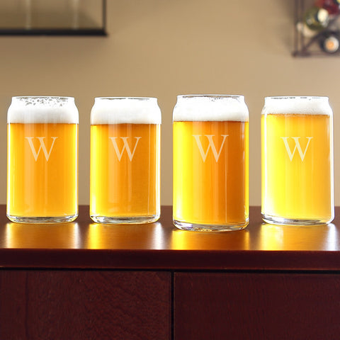 Personalized Craft Beer Can Glasses (Set of 4)