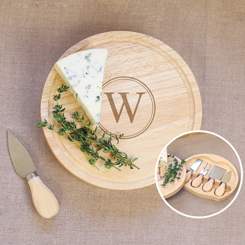 Personalized Gourmet 5pc. Cheese Board Set