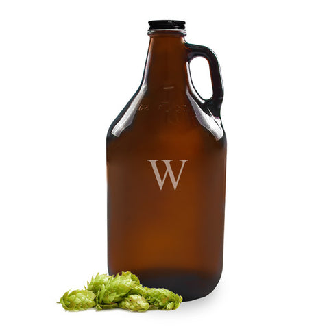 Personalized 64oz. Amber Growler