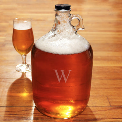 Personalized Glass Gallon Growler
