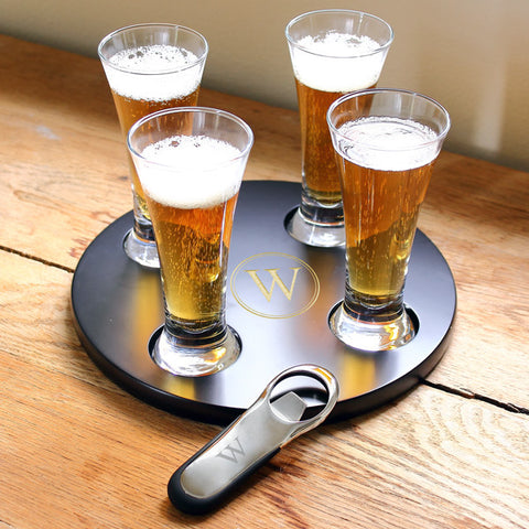 Personalized Beer Flight Sampler w/ Bottle Opener