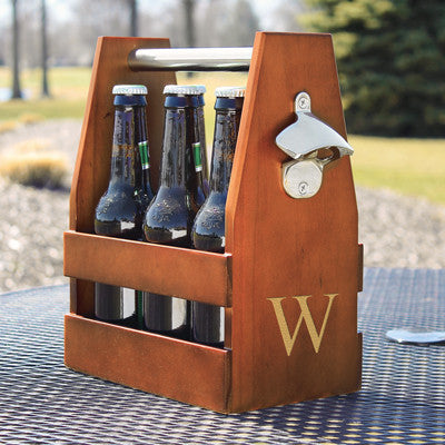 Personalized Wooden Craft Beer Holder with Bottle Opener