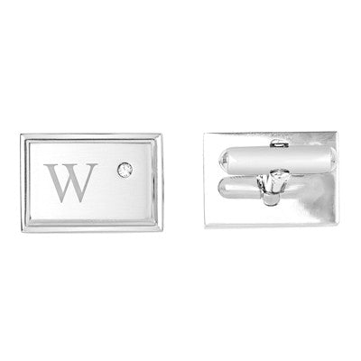 Personalized Zircon Jewel Stainless Steel Cuff Links