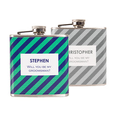Personalized Tie Pattern Custom Flask