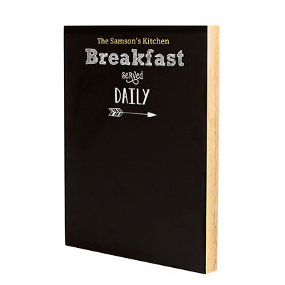 Personalized Breakfast Menu Chalkboard