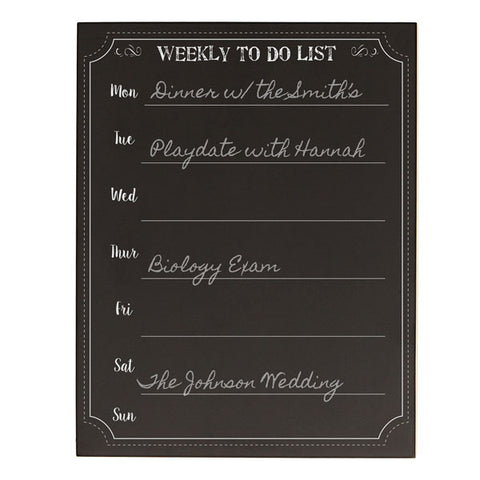 Personalized Weekly To-Do Chalkboard Organizer
