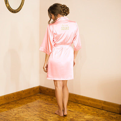 Personalized Solid Satin Robe