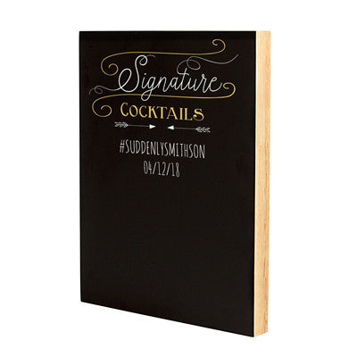 Personalized Cocktail Menu Chalkboard