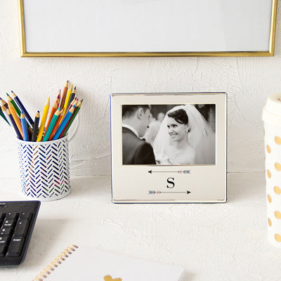 Personalized Arrow Silver Picture Frame