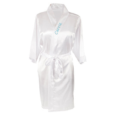 Personalized Satin Robe with Flip Flop Set