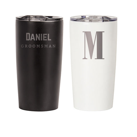 Personalized 20 oz. Stainless Steel Double-Walled Tumbler